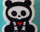 Grin and Bear It - Skeleton Panda Bear pendant
