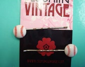 Take Me Out to the Ball Game 1950s style baseball silver hair pins