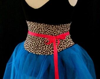 Leopard Print Waist Cincher Corset Belt Any Size B