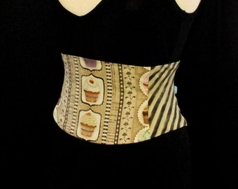Cupcake Stripes Corset Waist Cincher Belt Any Size B