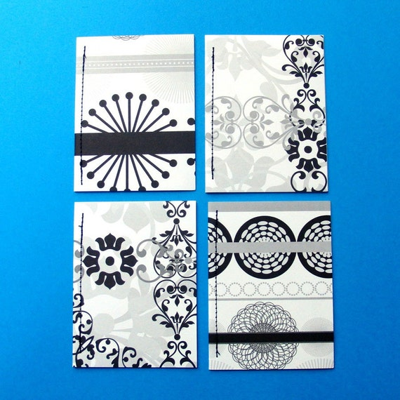 PIF Journal Ribbons and Curls Notebook Set of 4
