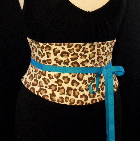 Leopard Print Waist Cincher Corset Belt Any Size B LAST ONE