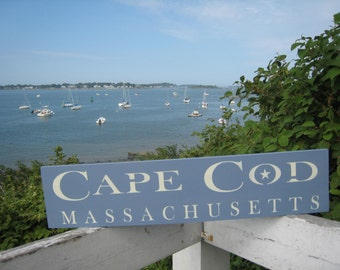 Handpainted wooden sign Cape Cod Massachusetts