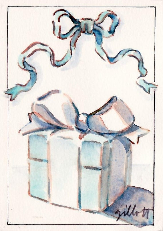 Tiffany's little blue box...