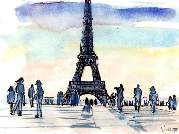 Eiffel Tower Trocadero...9 x 11