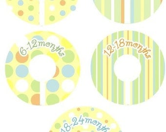 Closet Dividers - Unisex Pastel Dots and Stripes Clothing Organizer Dividers