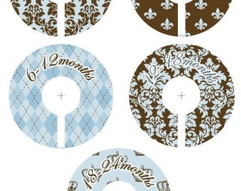 Prince Royalty Closet Clothing Dividers for Boys - Set of 5 Assorted