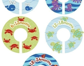 Ocean Sealife Closet Clothing Dividers