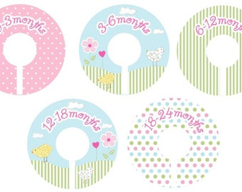Baby Chick Closet Clothing Dividers for Girls