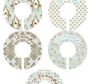Lily and Will Aqua Closet Clothing Dividers