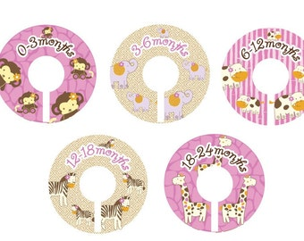 Girl Safari Closet Dividers  - CoCaLo Jacana Collection