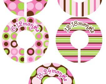 Modern Pop Baby Closet Organizer Clothing Dividers - Candy Stripe