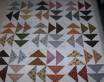 Flying Geese Quilt Blocks - Dutchman's Puzzle Quilt Topo