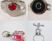 YOU Are Soooooo Attractive - changeable neodymium magnet ring with fun metal items