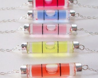 Keep Your Balance - Bubble Level Necklace sterling