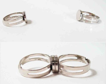 YOU Are Soooooo Attractive - pair of magnet rings for couples and Wonder Twins