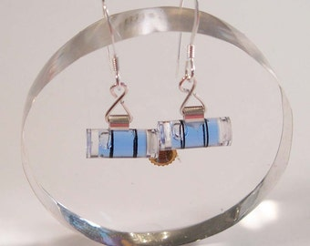Level With Me - Mini Blue Bubble Level Earrings