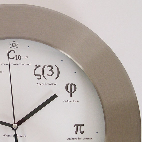 Metal Geek Clock - I'll meet you at PI for pie