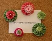 Bulletin Board Baubles. Pretty Push Pins. Fresh Flowers. Set C.