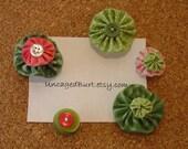 Bulletin Board Baubles. Pretty Push Pins. Fresh Flowers. Set D.