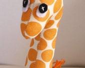 Giraffe Soft Toy Small- Orange Spot Fabric cute