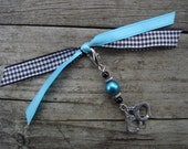 Saucy Handcuff Page Charm - Turquoise