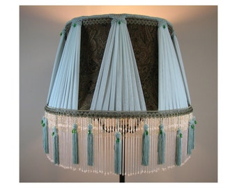Large Victorian Style Fabric Lamp Shade - Serenity 1014