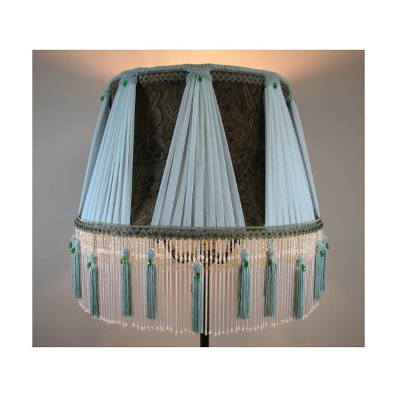 SALE: Large Victorian Style Fabric Lamp Shade - Serenity 1014