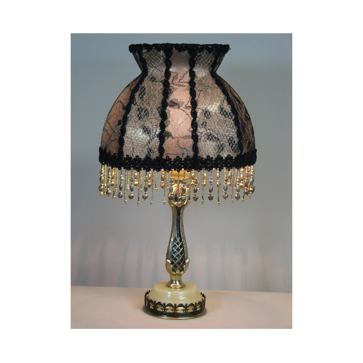 Vintage Table Lamp With Victorian Lamp Shade The Letter From