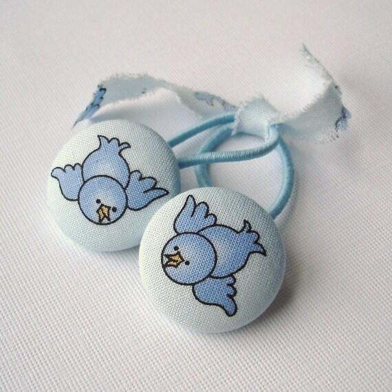 Ponytail Holders, Blue Birds