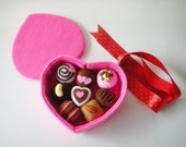 Sweet Chocolate Gift Set PDF Felt Food Sewing Pattern