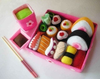 Lovely Japanese Sushi Set Sewing Pattern PDF