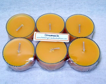 Dreamsicle PURE SOY Tea Lights (Set of 6)