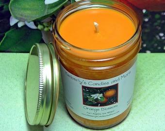 Orange Blossom PURE SOY Mason Jar Candle