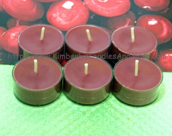 Cranberry PURE SOY Tea Lights (Set of 6)