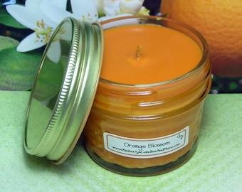 Orange Blossom PURE SOY 4 oz Mason Jar Candle