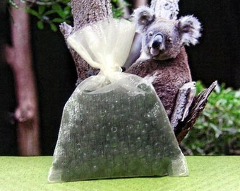 Eucalyptus Aroma Bead Sachets (Set of 2)  GREAT IN The CAR Air Fresheners