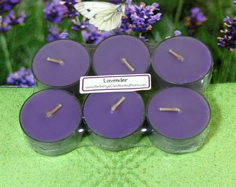 Lavender PURE SOY Tea Lights (Set of 6)