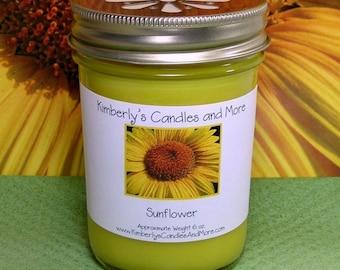 Sunflower PURE SOY Mason Jar Candle