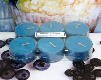 Blueberry Muffin PURE SOY Tea Lights (Set of 6)