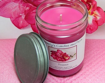 Freesia PURE SOY Mason Jar Candle