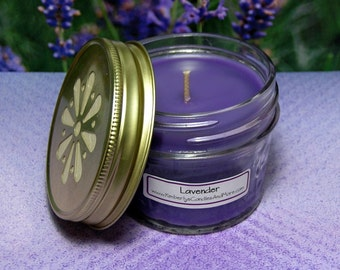 Lavender PURE SOY 4 oz. Jelly Jar Candle