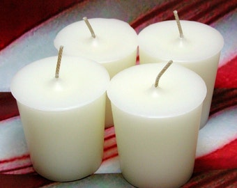Peppermint Votive Candles PURE SOY (Set of 4)