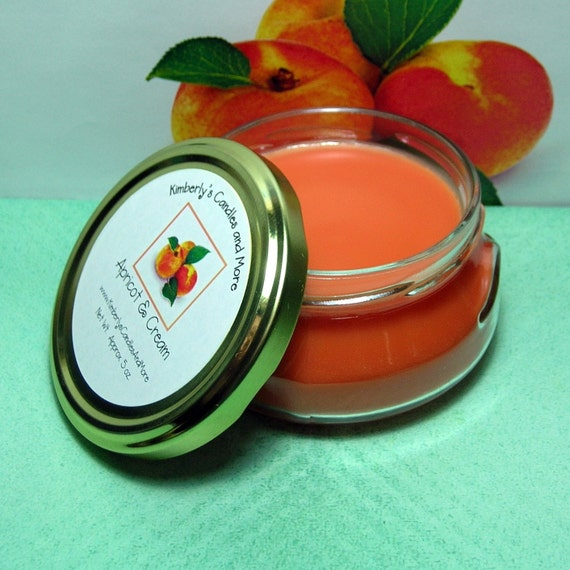 Apricot and Cream Wickless Candle