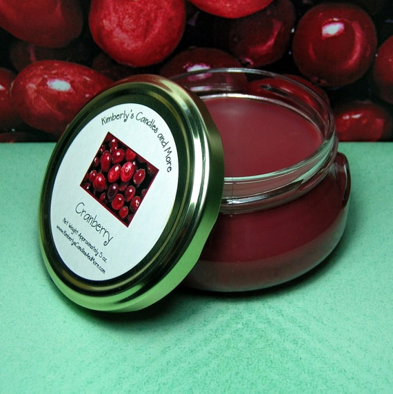 Cranberry 6 oz. Tureen Jar Wickless Candle