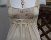 Upcycled Vintage Slip Dress French Chemise Slipdress Victorian Marie Antoinette Altered Couture Alternative Apparel