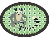 Lemur A4 print