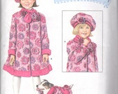 2778 Simplicity Daisy Kingdom Coat Vest Scarf Hat Sizes 3 to 8