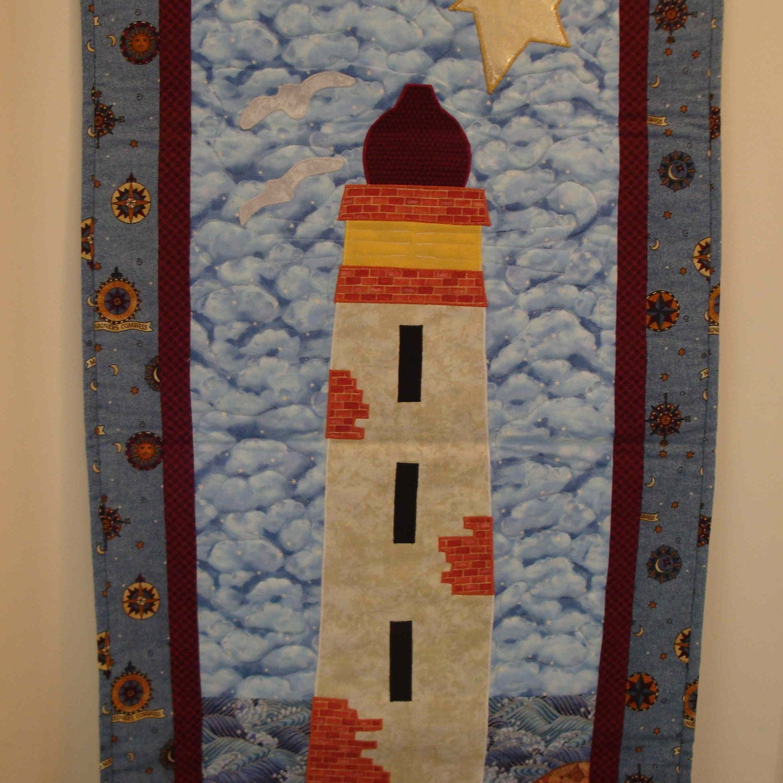 Lighthouse Quilt Wallhanging Nautical Seaside Beach