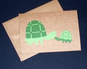 Baby and Mommy Turtle Card